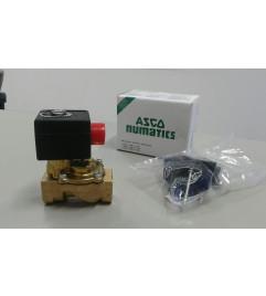"""Válvula solenoide 2/2vias NF conexão 1/2"""" NPT orifício 12mm kV 2,4 até 16 bar - ASCO Numatics"""