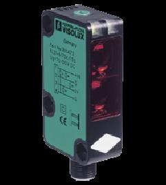 Sensor fotoelétrico Difuso Range de 0 a 2,5 metros 2x Saídas Push-Pull (PNP ou NPN) NA ou NF selecionável 10-30Vdc Pepperl+Fuchs