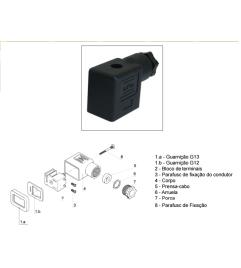 Conector padrão DIN para válvulas Tamanho 22 2P+T - ASCO Numatics