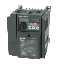 Inversor de Frequência Mitsubishi 0,5 CV Trifásico 380/440V Modelo: FR-D740-012-NA