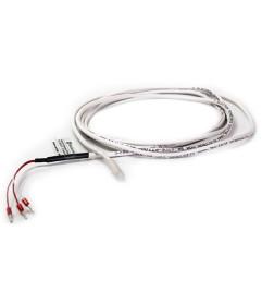 Sensor PT100, haste 5X35mm, cabo cravado 3m de silicone, 200°C